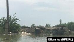 Затопленное село Оргебас. 3 мая 2020 года.
