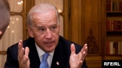 U.S. Vice President Joe Biden spoke with RFE/RL in Prague.