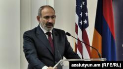 Վարչապետ Նիկոլ Փաշինյանը ելույթ է ունենում Ամերիկյան առևտրի պալատի ներկայացուցիչների հետ հանդիպմանը, 14-ը նոյեմբերի, 2019թ., Երևան