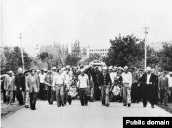 Похороны Мусы Мамута 30 июня 1978 года. Архив Международного общества «Мемориал»