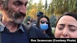 У здания парламента Армении, Ереван, 10 ноября 2020 года