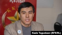 """Максат Жакауов, член центрального совета партии """"Ак жол"""". Алматы, 6 февраля 2015 года."""