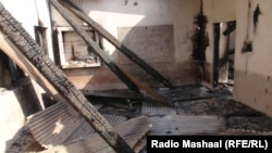 Pakistan, October 26, 2013: Interior of Girls' Primary School in Swat of Pakistan which was set ablaze between the night of October 25 and 26, 2013. It is the first time in three years that a school in Swat is either burned or blown up by unknown people.