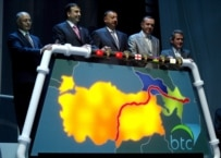 Turkish leaders inaugurated the Baku-Tbilisi-Ceyhan (BTC) pipeline in July 2006