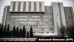 """Общий вид здания Института органической химии в Москве, в котором, предположительно, разрабатывалось вещество """"Новичок""""."""