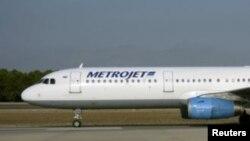 Pamje e aeroplanit të tipit Metrojet Airbus A321-200