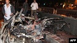 Дамаскіде болған жарылыстардың бірінен кейінгі көрініс. Сирия, 13 қазан 2013 жыл.