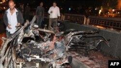 Дамасктын борборундагы жарылуудан кийин. 13-октябрь, 2013-жыл.
