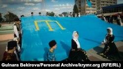Траурный митинг крымских татар в Мелитополе. Архивное фото