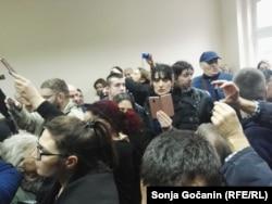 Prostorija u kojoj je trebalo da bude održan pretres u Lekarskoj komori Srbije