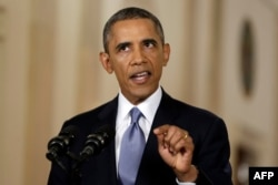 Барак Обама во время обращения к нации 10-го сентября