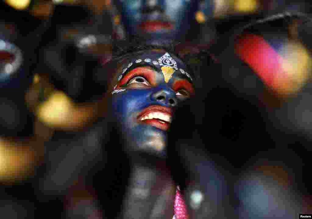 Students participate in celebrations ahead of the Janmashtami festival, which marks the birth anniversary of Lord Krishna, in Mumbai, India. (Reuters/Danish Siddiqui)