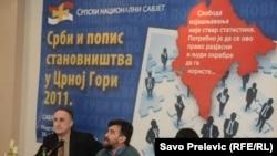 Srpski nacionalni savjet na skupu o popisu u Crnoj Gori, januar 2011.