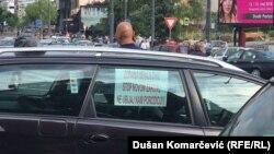 Taksisti protestovali u Beogradu, 10. maj 2018.