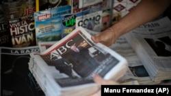 Обложки испанских газет и журналов с новостями об отъезде из Испании бывшего короля Хуана Карлоса I. 4 августа 2020 года