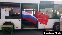 Избирательный участок в автобусе в Петербурге