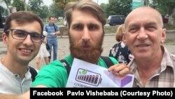Любко Дереш, Павло Вишебаба, Олександр Ірванець на «Книжковій толоці» у Слов'янську. 30 липня 2018 року