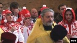 Российскую сборную в Ванкувер на Олимпиаду провожали с Богом