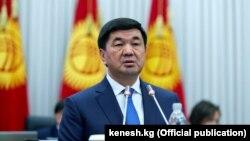 Қырғызстан премьер-министрі Мухаммедкалый Абылгазиев.