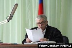 Судья на процессе по делу о наводнении в Крымске