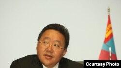 Президент Монголии Цахиагийн Элбэгдорджа