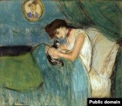 Пабла Пікаса, «Жанчына з катом» (1900)