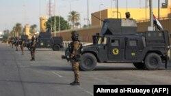 Контртерористичні сили Іраку на варті посольства США, Багдад, 2 січня 2020 року