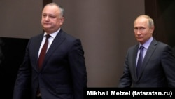 Președintele Igor Dodon primit la Soci de Vladimir Putin în octombrie 2017