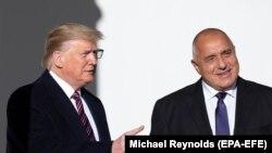Доналд Тръмп и Бойко Борисов по време на срещата им във Вашингтон