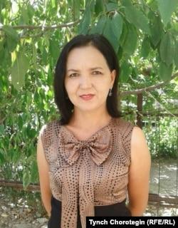 Нуржамал Мырзабаева, ЖАМУнун улук окутуучусу. 29.7.2016.
