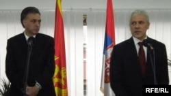 Boris Tadić i Filip Vujanović u Herceg Novom, 16.03.2011. Foto: Jasna Vukićević