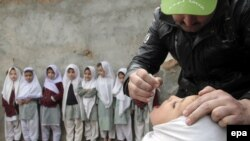 More than 50 people have been killed in militant attacks on Pakistani polio vaccination teams since December 2012. (file photo)