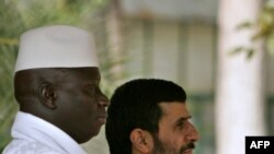 Iranian President Mahmud Ahmadinejad (right) and Gambian President Yahya Jammeh in Tehran in December 2006