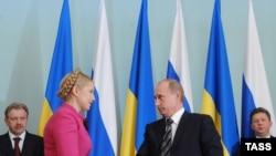 Юлія Тимошенко і Володимир Путін, Москва, 19 січня 2009 року
