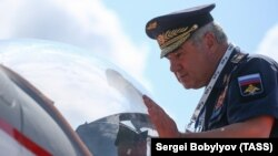 Colonel General Viktor Bondarev last year when he was commander of the Russian Air Force.