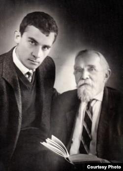 А.Горянин с профессором Леоновым, нач. 1960-х
