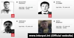 Predrag Bogićević, Vladimir Popov, Eduard Šišmakov i Nemanja Ristić na potjernici Interpola