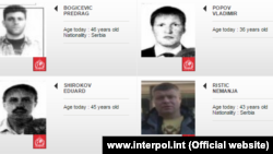 The Interpol images of the Montenegro coup suspects