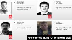 Среди разыскиваемых Интерполом – Эдуард Широков, настоящая фамилия которого Шишмаков (слева внизу).