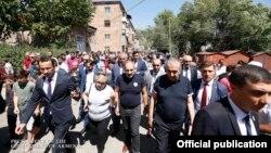 Armenia -- Prime Minister Nikol Pashinian visits Jermuk, August 23, 2019.