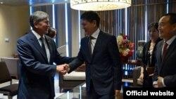 Президент Кыргызстана Алмазбек Атамбаев в Пекине.