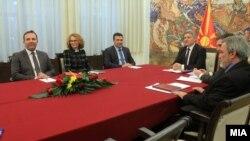 Средба на претседателот Ѓорге Иванов со лидерот на СДСМ Зоран Заев, 1 февруари, 2017