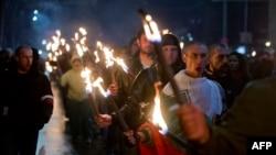 Nationalist marchers honor General Lukov in 2016.