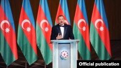 Ильхам Алиев на открытии Центра Гейдара Алиева, Баку, 11 мая 2012