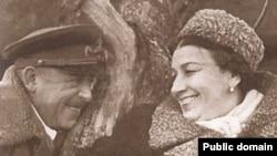 Лидия Русланова с Владимиром Крюковым