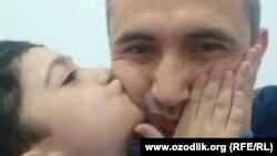 Махмуд Маткаримов с 7-летним сыном Мухаммадом.