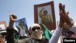 подржувачи на Гадафи