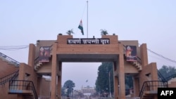 The Wagah border crossing between India and Pakistan.