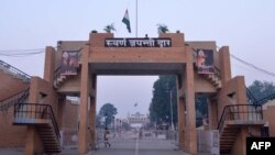 The Wagah border crossing between India and Pakistan on November 3, 2014.