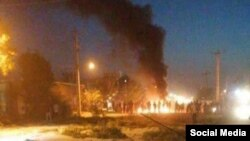 Protests erupted Sunday evening in Ahvaz, capital of Iran's oil-rich Khuzestan province. Nov. 11, 2019